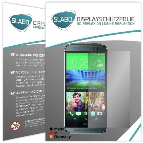 4 x Slabo Displayschutzfolie HTC ONE M8 Displayschutz Schutzfolie Folie