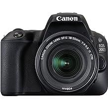 Canon EOS 200D 24.2MP Digital SLR Camera (Black) With EF-S 55-250mm IS STM Lens