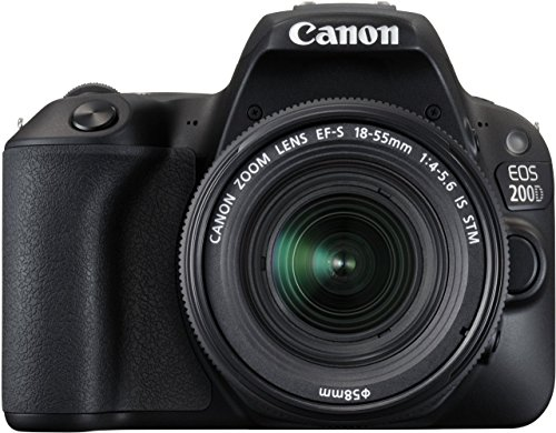 Canon EOS 200D 24.2MP Digital SLR Camera (Black) + EF-S 18-55mm IS STM Lens + EF-S 55-250mm IS STM Lens + Motorola Pulse Escape Wireless Bluetooth Over-Ear Headphones