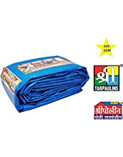 Tarpaulin Sheets Waterproof Tarpaulin 100% Pure Virgin UV Treated 125 GSM Blue Water Proof Plastic Sheet (9 FT X 6 FT)