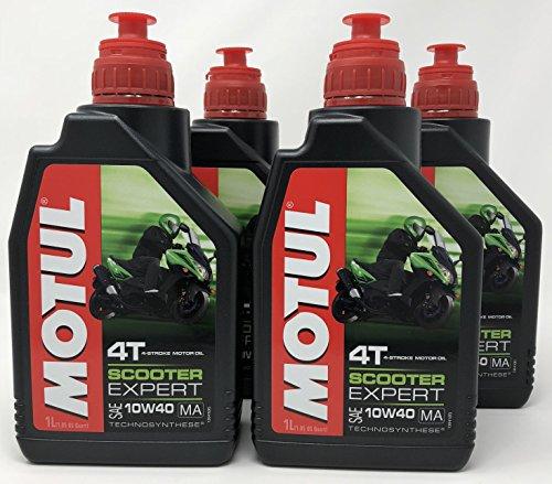 Aceite Moto - Motul Scooter Expert 4T 10W-40, 4 litros (4x1 lt)