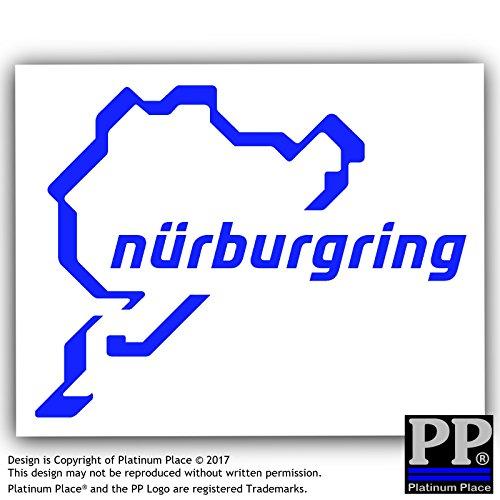 Nürburgring sticker-blue auf weiß Auto, Van, Fenster sign-race Racing Track, F1, F4, M3, M4, Racer, Turbo, Treiber, Fahren, V8, GTI, R, GTR, Drag, Streifen, natürlich–112mm x 87mm (112 Natürliche)