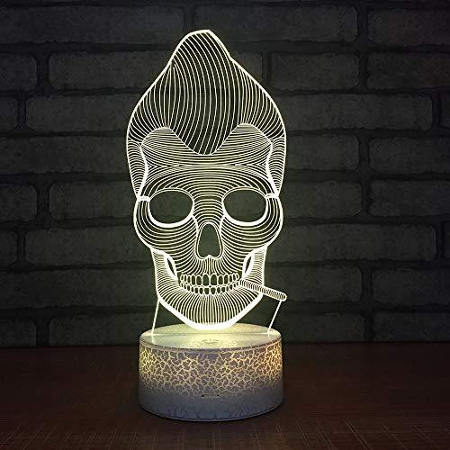 2019 neue halloween 3d nachtlicht kreative sieben farbe maske led lampe new phantasie produkt großhandel 3d leuchten