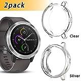 Anzela Lot de 2 Coques pour Garmin Vivoactive 3 Trainer Smartwatch, Soft Plaqué TPU...