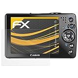 atFoliX Schutzfolie für Canon Digital IXUS 75 Displayschutzfolie - 3 x FX-Antireflex blendfreie Folie