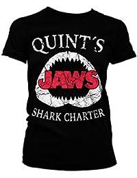 Officiellement Marchandises Sous Licence Jaws - Quint´s Shark Charter Femme Tee