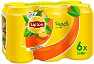 Lipton Peach Ice Tea, Non-Carbonated Low Calories Refreshing Drink,320mlx6