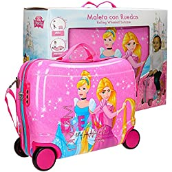Disney Princess Equipaje Infantil, 50 cm, 34 Litros, Rosa