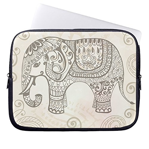whiangfsoo-stylized-fantasy-elephant-neoprene-sleeve-case-bag-pouch-carrying-holder-protector-for-la