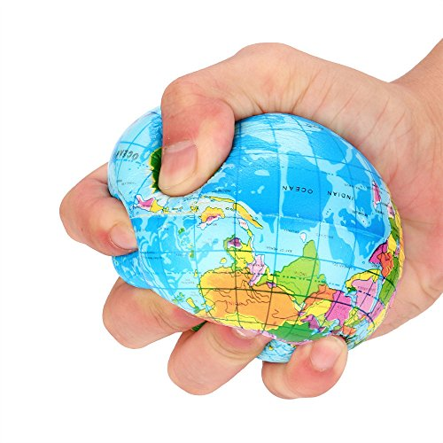 Hanomes Squeeze Toys 2PCS Stress Relief World Map Jumbo Ball...