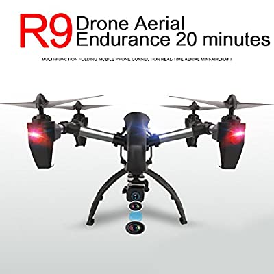 Hanbaili R9 Real-time Transmission Drone with FPV 1080P HD WIFI Camera,4 Crown High Operating Motors, Bass Simultaneously Stronger Flying Power,RC Quadcopter for Kids with Headless Mode