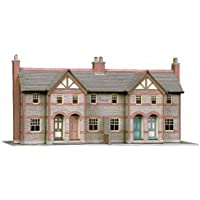 B30 Superquick 4 Terraced Houses - 1/72 OO/HO - Card Model Kit by Superquick