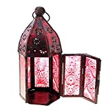 #2: Ethnic Arts Home Decor Handicrafts | Home decor | Home Decorative Items in Living Room, Bedroom | Jaipuri Handicraft Red Candle Holder Stand