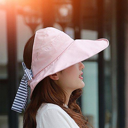 Chapeau de soleil Été féminin Crème solaire chapeau de soleil de plein air Empty top Grandes corniches Anti-UV Pliable Plage Chapeau d'été Plage Cap ( Couleur : 6 ) 3