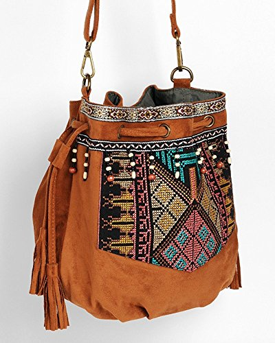 beuteltasche hippie tasche umh ngetasche fransentasche schwarz braun gr n bunt fransen beutel. Black Bedroom Furniture Sets. Home Design Ideas