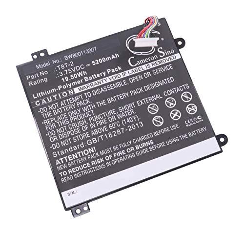 """vhbw Li-Polymer Akku 5200mAh (3.75V) für Notebook Laptop Toshiba Satellite Click Mini L9W-B, Click Mini L9W-B 8.9\"""" wie T8T-2."""