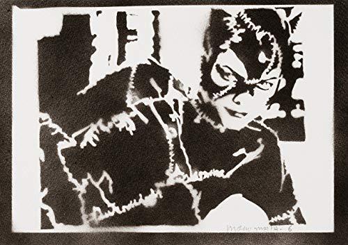 moreno-mata Catwoman Handmade Street Art - Artwork - Poster