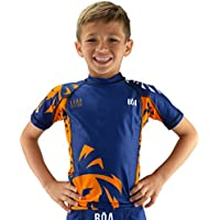 Bõa Niños leão Rashguard, Todo el año, Infantil, Color Azul, tamaño 10Y