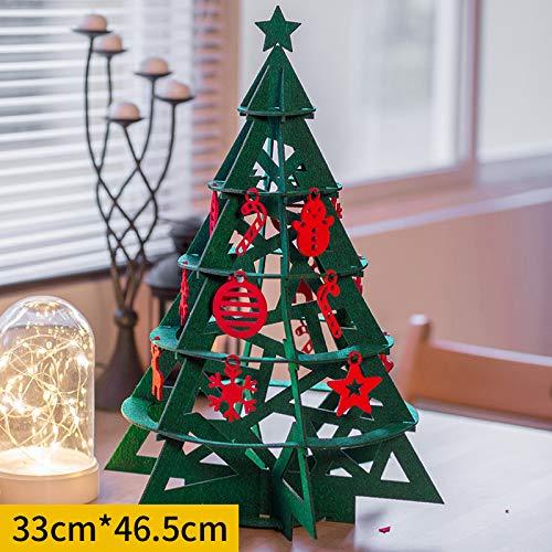 HAPPYLR decorationMini Weihnachtsbaum Put Stücke von kleinen dekorativen Elementen Cafe Weihnachten Urlaub Szene Layout Fenster Ornamente, Weihnachtsbaum grünen Turm (Urlaub Weihnachten Elemente)