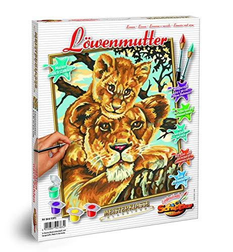 Schipper 609240383 - Malen nach Zahlen - Löwenmutter, 24x30cm