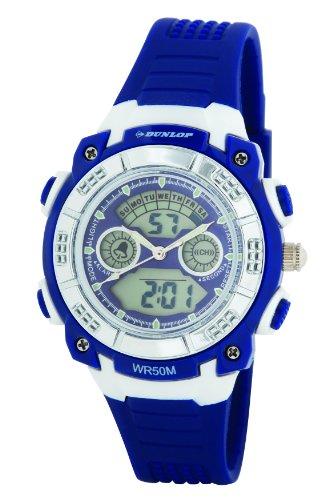 Dunlop DUN-244-L03 - Orologio da polso, donna, plastica, colore: blu
