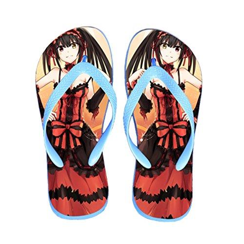 Bromeo Date A Live Anime Unisex Flip Flops Zehentrenner Flip Pantoffeln 460