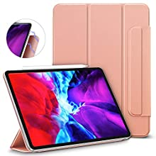 "ESR Rebound Magnetic Smart Case for iPad Pro 12.9"" 2020/2018, Convenient Magnetic Attachment, Auto Sleep/Wake Trifold Stand Case - Rose Gold"