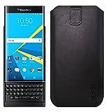 Slabo Schutzhülle für Blackberry Priv Schutztasche Handyhülle 5,5 Zoll Case aus PU-Leder - Schwarz | Black