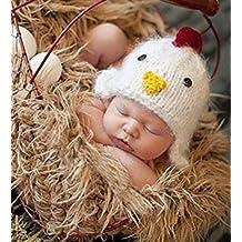 Fashion para recién nacidos Boy disfraz de niña de punto bebé Fotografía Props ropa gorro de pollito