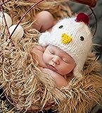 hobees Cute recién nacido niño niña disfraz de bebé punto fotografía Props gorro de pollito