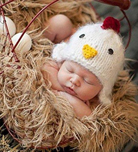 Imagen de fashion para recién nacidos boy disfraz de niña de punto bebé fotografía props ropa gorro de pollito