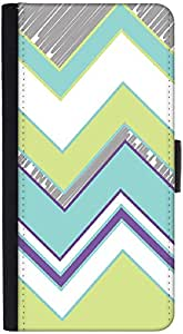 Snoogg Zig Zag Design 2368 Graphic Snap On Hard Back Leather + Pc Flip Cover ...