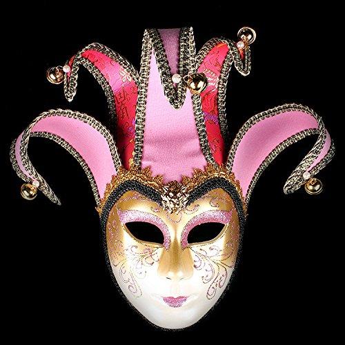 K&C Handgemalte Halloween Masquerade Venedig Party Lace Maske Pink