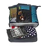 Fency playa bolsa de malla 2-in-1bolsa potable Cooler familia bolso de hombro con cremallera negro