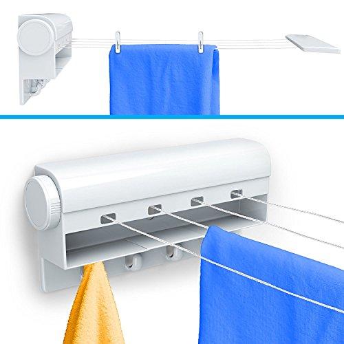 Beldray Nähmaschine 4Line Wäscheleine ausziehbar, 12m Platz zum Trocknen (4x 3m Linien)