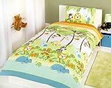 Rapport - Set copripiumino e copricuscino Jungle Boogie, per bambini, multicolore