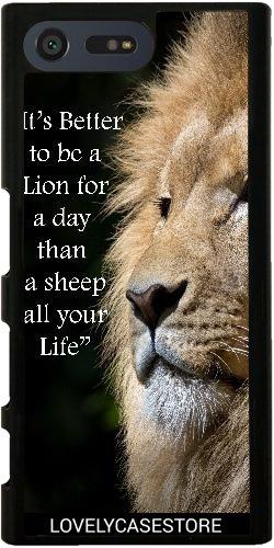 Custodia per Sony Xperia X Compact - Leone selvaggio africano Africa Felini zoo - Zoo Africano