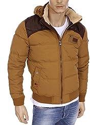 Redskins - Homme - Blouson à capuche Silver Mitchell camel hiver 2016