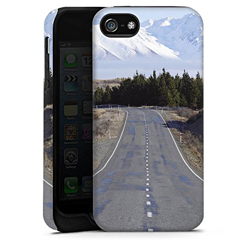 Apple iPhone X Silikon Hülle Case Schutzhülle Landschaft Straße Berge Tough Case matt