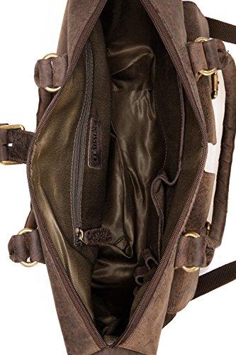 LEABAGS San Diego borsa vintage in vera pelle di bufalo - Noce moscata Noce moscata