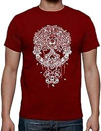 e6be28ebe985e3 tostadora Tee Shirt Mexicaine Blanc du Tête de Mort - Tee Shirt Homme,  qualité Supérieure