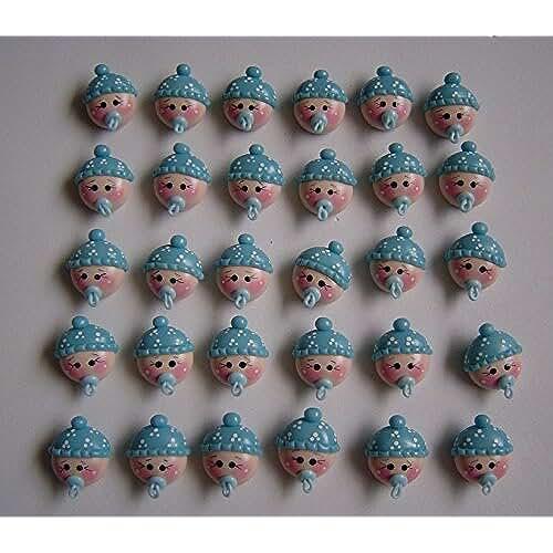 figuras kawaii porcelana fria 12 caras bebe Porcelana Fria Bautizo, Nacimiento, Baby Shower, Niño, Niña handmade flavors