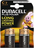 Duracell Plus Power Type C Alkaline Batteries, Pack of 2