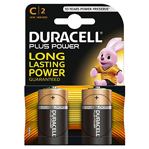 Duracell Plus Power Typ C Alkaline Batterien, 2er Pack -