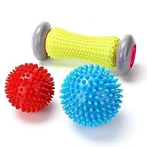 RIGHTWELL Fußmassage für Plantarfasziitis – Muskel Roller & Fußmassage Balls – Schmerzlinderung für Hacken & Fußgewölbe,Stressreduzierung und Entspannung durch Triggerpunkt-Therapie
