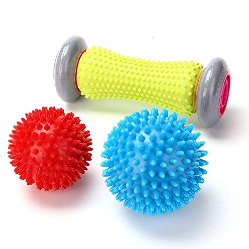 RIGHTWELL Fußmassage für Plantarfasziitis - Muskel Roller & Fußmassage Balls - Schmerzlinderung für Hacken & Fußgewölbe,Stressreduzierung und Entspannung durch Triggerpunkt-Therapie -