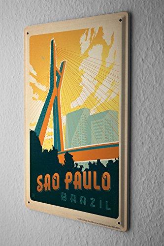 cartello-targa-in-metallo-tour-mondiale-sao-paulo-brazil-ponte-strallato-piastra-insegna-metallica-2