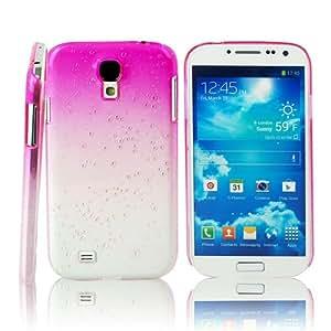 Mavis's Diary® Coque Samsung Galaxy S4 i9500 Coque Goutte d'Eau Simple Rose Rouge Dessin Coloré Housse de Protection Antichoc Coque Portable Phone Case Cover Etui Téléphone