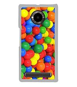 Multi colour Balls 2D Hard Polycarbonate Designer Back Case Cover for YU Yuphoria :: YU Yuphoria YU5010