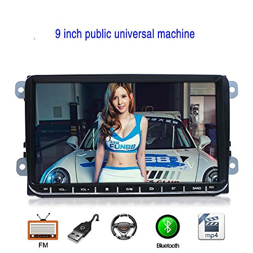 WANGOFUN Auto DVD Player Auto Stereo 9 Zoll Touchscreen MP5 MP3 Player Unterstützung AM/FM Radio Bluetooth Spiegel Link Rückfahrkamera Eingang (Radio Kind Am Fm)